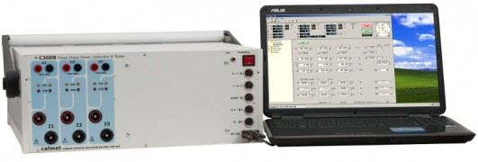 C300B Three and single phase power and energy calibrator, tester and protection relay test set