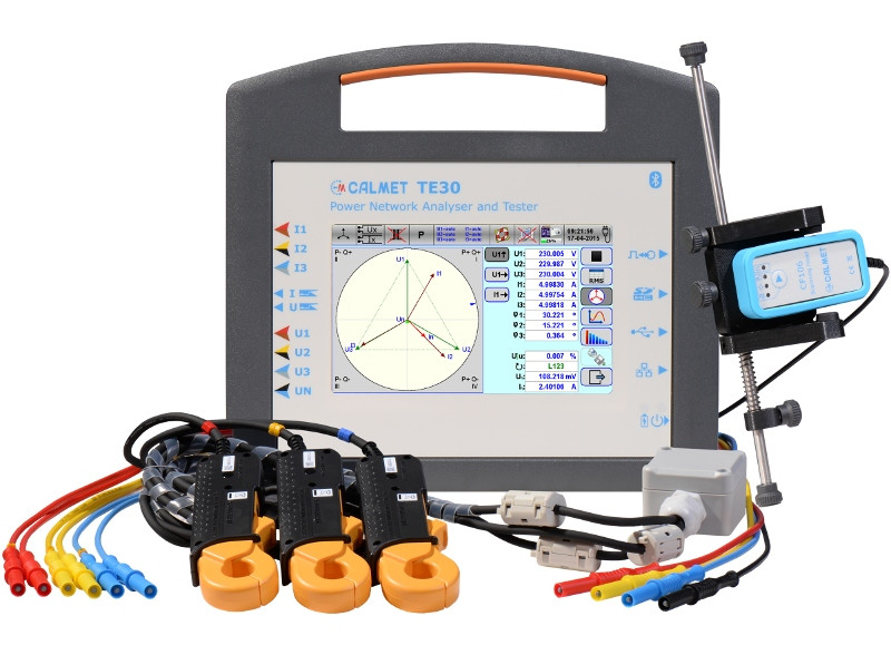 TE30 - Portable Three-Phase Working Standard and Power Quality Analyzer